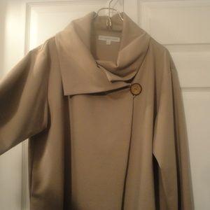 Christopher Calvin Wrap Cape Style Beige Jacket L